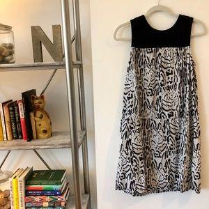 Smocked Bodice Animal Print Dress by Joie Sz. L